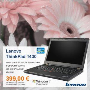 Top-Angebot: Lenovo ThinkPad T430 nur 399 €