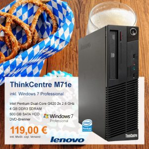 Top-Angebot: Lenovo ThinkCentre M71e nur 119 €