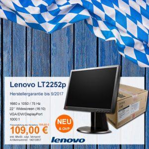 Top-Angebot: Lenovo ThinkVision LT2252p nur 109 €