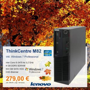 Top-Angebot: Lenovo ThinkCentre M82 nur 279 €