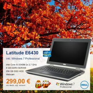 Top-Angebot: DELL Latitude E6430 nur 299 €