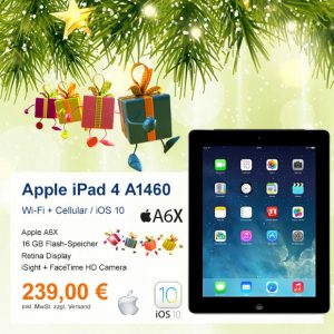 Top-Angebot: Apple iPad 4 A1460 nur 239 €