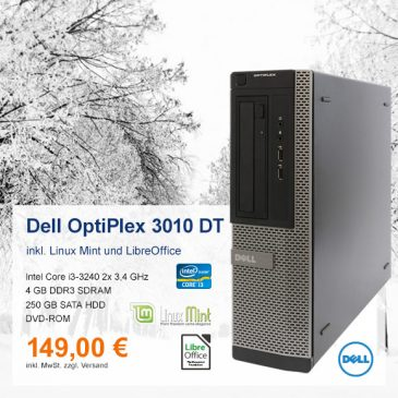 Top-Angebot: Dell OptiPlex 3010 DT nur 149 €