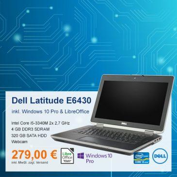 Top-Angebot: Dell Latitude E6430 nur 279 €