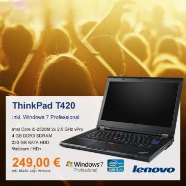 Top-Angebot: Lenovo ThinkPad T420 nur 249 €