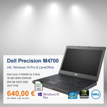 Top-Angebot: Dell Precision M4700 nur 640 €