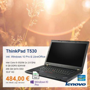 Top-Angebot: Lenovo ThinkPad T530 nur 484 €