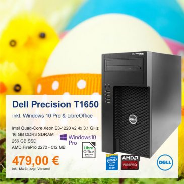 Top-Angebot: Dell Precision T1650 nur 479 €