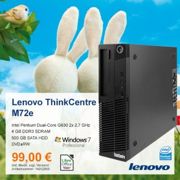 Top-Angebot: Lenovo ThinkCentre M72e nur 99 €