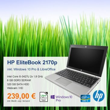 Top-Angebot: HP EliteBook 2170p nur 239 €