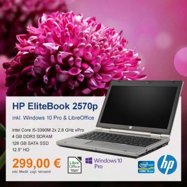 Top-Angebot: HP EliteBook 2570p nur 299 €