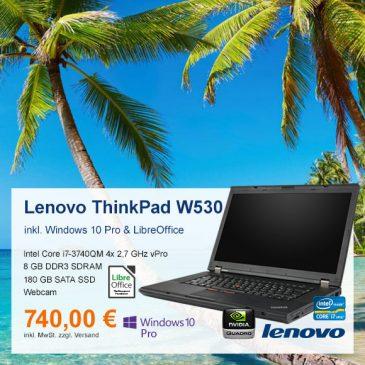 Top-Angebot: Lenovo ThinkPad W530 nur 740 €