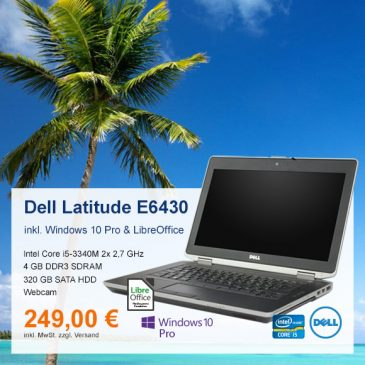 Top-Angebot: Dell Latitude E6430 nur 249 €