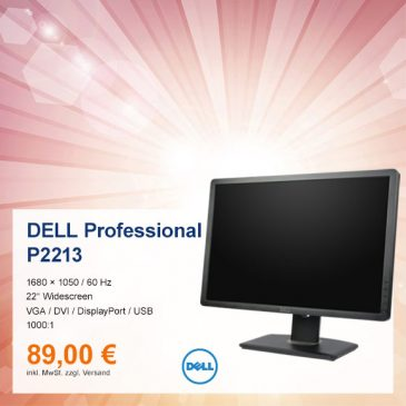 Top-Angebot: Dell Professional P2213 nur 89 €
