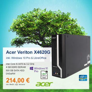 Top-Angebot: Acer Veriton X4620G nur 214 €