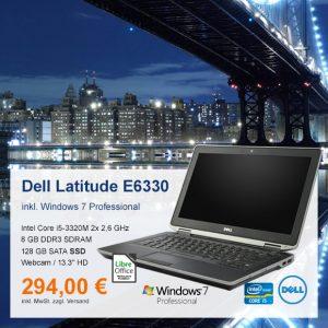 Top-Angebot: Dell Latitude E6330 nur 294 €