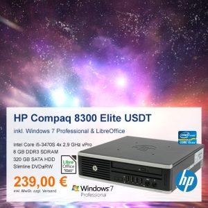 Top-Angebot: HP Compaq 8300 Elite USDT nur 239 €