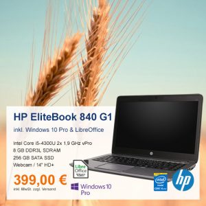 Top-Angebot: HP EliteBook 840 G1 nur 399 €