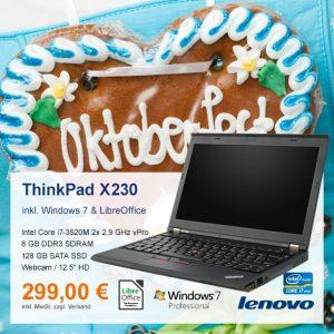 Top-Angebot: Lenovo ThinkPad X230 nur 299 €