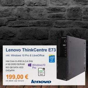 Top-Angebot: Lenovo ThinkCentre E73 nur 199 €