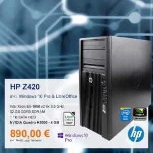 Top-Angebot: HP Z420 Workstation nur 890 €