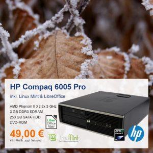 Top-Angebot: HP Compaq 6005 Pro SFF nur 49 €