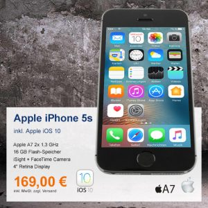 Top-Angebot: Apple iPhone 5s A1457 nur 169 €