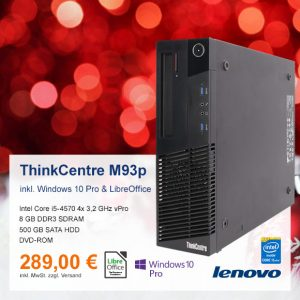 Top-Angebot: Lenovo ThinkCentre M93p nur 289 €