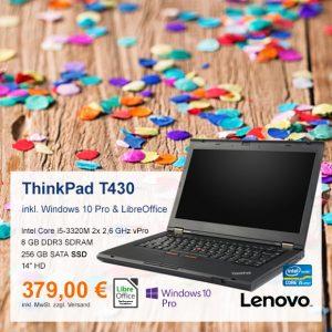 Top-Angebot: Lenovo ThinkPad T430 nur 379 €