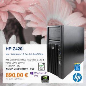 Top-Angebot: HP Z420 nur 890 €