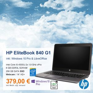 Top-Angebot: HP EliteBook 840 G1 nur 379 €
