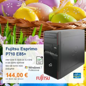 Top-Angebot: Fujitsu Esprimo P710 E85+ nur 144 €