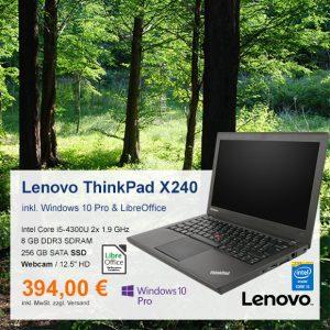 Top-Angebot: Lenovo ThinkPad X240 nur 394 €