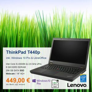 Top-Angebot: Lenovo ThinkPad T440p nur 449 €