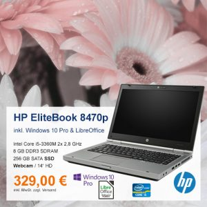 Top-Angebot: HP EliteBook 8470P nur 329 €