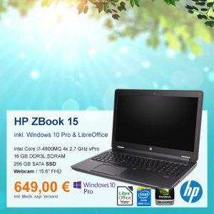 Top-Angebot: HP ZBook 15 nur 649 €