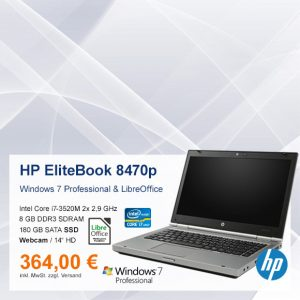 Top-Angebot: HP EliteBook 8470p nur 364 €