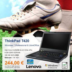Top-Angebot: Lenovo ThinkPad T420 nur 244 €