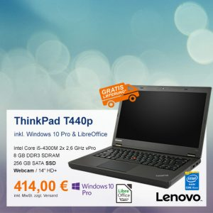 Top-Angebot: Lenovo ThinkPad T440p nur 414 €