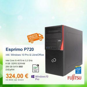 Top-Angebot: Fujitsu Esprimo P720 E90+ nur 324 €