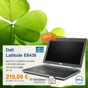 Top-Angebot: Dell Latitude E6430 nur 219 €