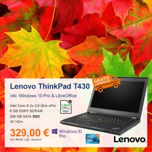 Top-Angebot: Lenovo ThinkPad T430 nur 329 €