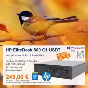 Top-Angebot: HP EliteDesk 800 G1 USDT nur 249 €