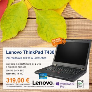 Top-Angebot: Lenovo ThinkPad T430 nur 319 €