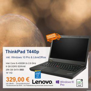 Top-Angebot: Lenovo ThinkPad T440p nur 329 €