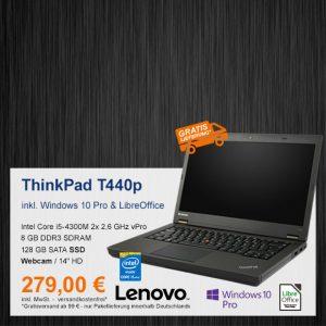 Top-Angebot: Lenovo ThinkPad T440p nur 279 €