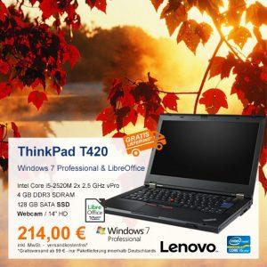 Top-Angebot: Lenovo ThinkPad T420 nur 214 €