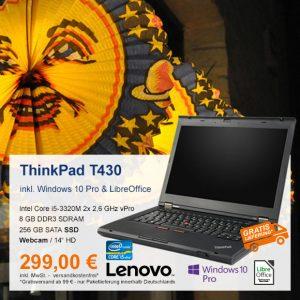 Top-Angebot: Lenovo ThinkPad T430 nur 299 €