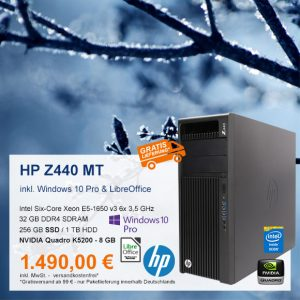 Top-Angebot: HP Z440 Mini Tower nur 1.490,00 €
