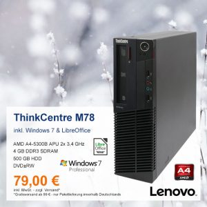Top-Angebot: Lenovo ThinkCentre M78 nur 79 €